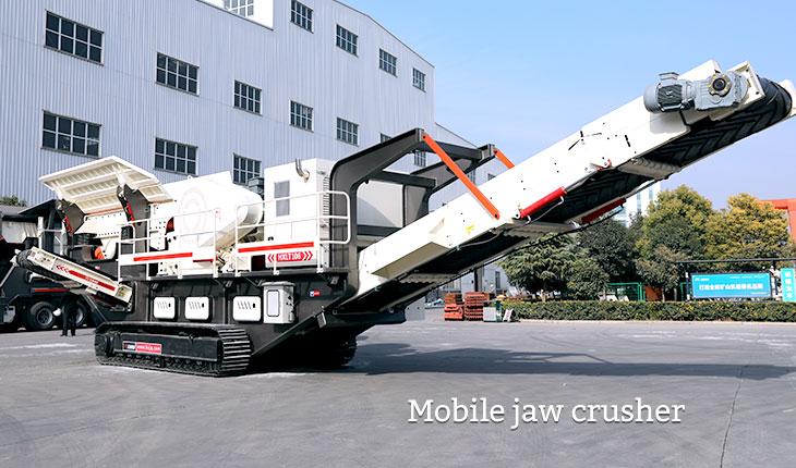 Mobile jaw crusher