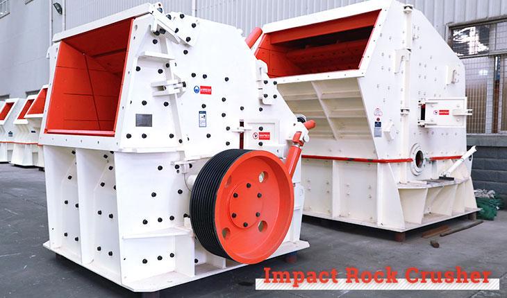 Impact rock crusher