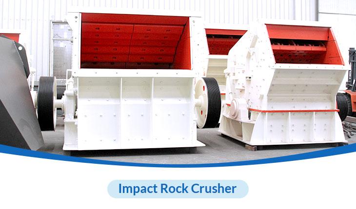 The impact rock crusher machine produced by HXJQ