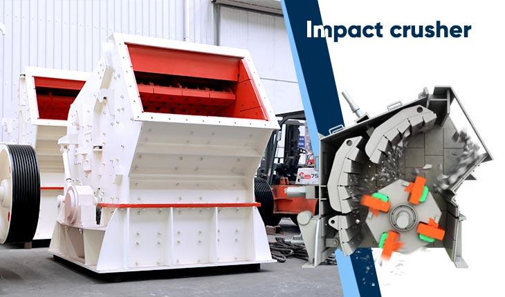 impact rock crusher and its discharging port