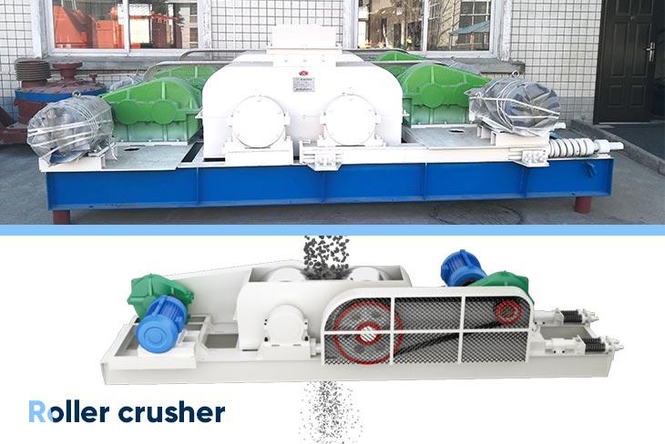 roller crusher and its discharging port